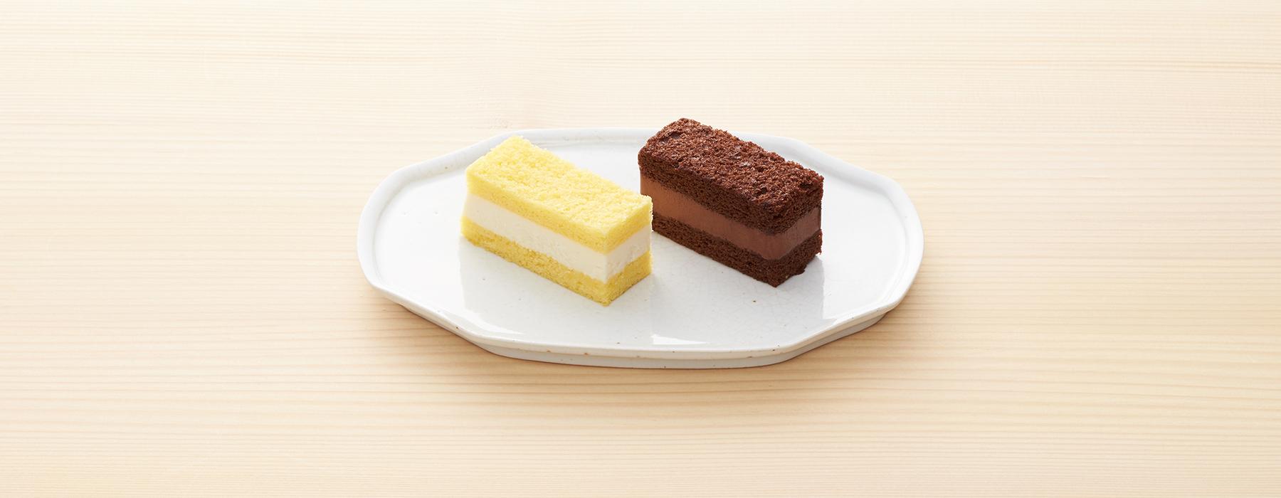 冬のクリームサンドケーキ